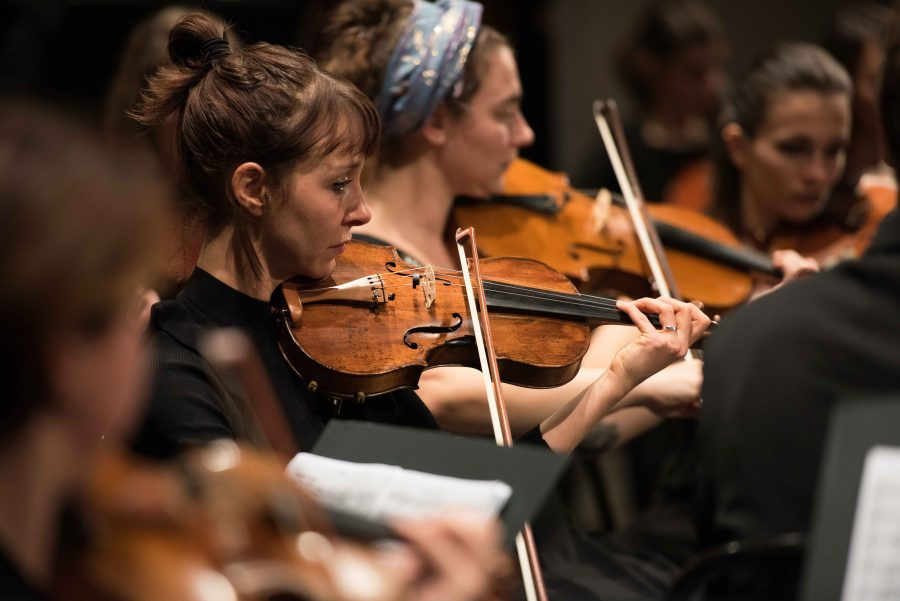 Masnada con Orchestra Senzaspine e Magdaclan al Duse di Bologna